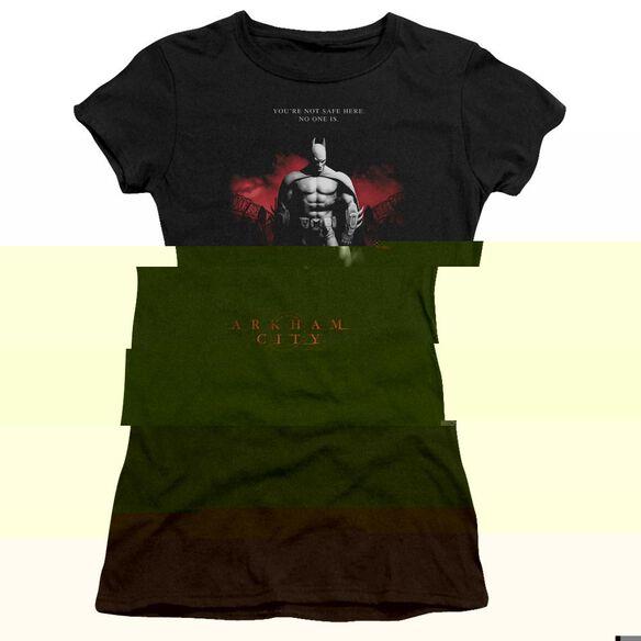 ARKHAM CITY STANDING STRONG - S/S JUNIOR SHEER - BLACK T-Shirt