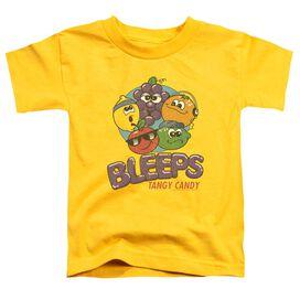Dubble Bubble Bleeps Short Sleeve Toddler Tee Yellow Md T-Shirt