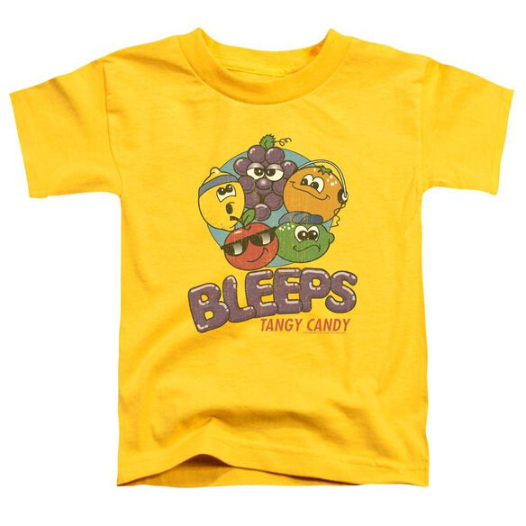 Dubble Bubble Bleeps Short Sleeve Toddler Tee Yellow Md T-Shirt