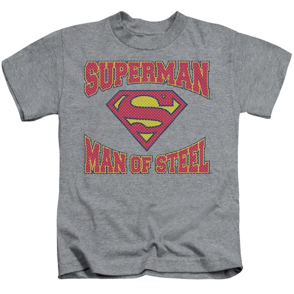 SUPERMAN MAN OF STEEL JERSEY - S/S JUVENILE 18/1 - ATHLETIC HEATHER - T-Shirt