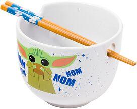 Star Wars The Mandalorian The Child Nom Boxed Ceramic Ramen Bowl with Chopsticks