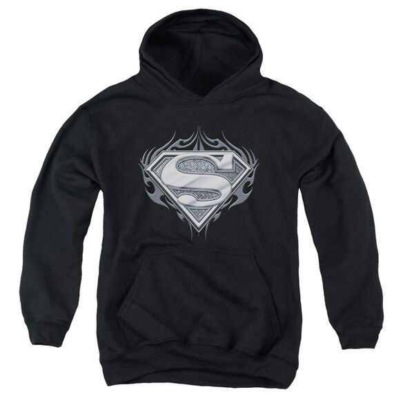 Superman Biker Metal Youth Pull Over Hoodie