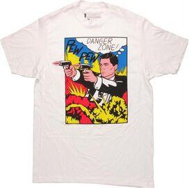 Archer Danger Zone Pew Pew T-Shirt Sheer