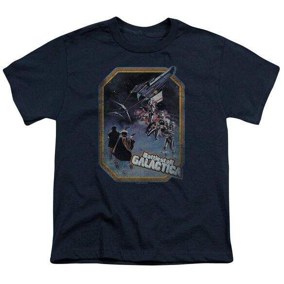 BSG POSTER IRON ON - S/S YOUTH 18/1 - NAVY T-Shirt