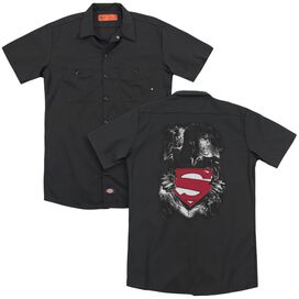 Superman Darkest Hour (Back Print) Adult Work Shirt