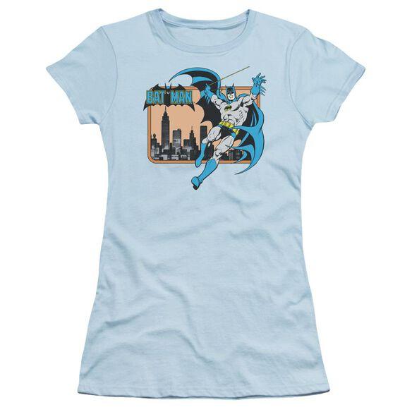Dc Batman In The City Short Sleeve Junior Sheer Light T-Shirt