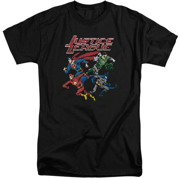 Jla Pixel League Short Sleeve Adult Tall T-Shirt