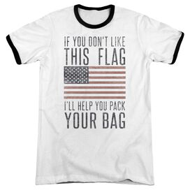 Pack Your Bag Adult Ringer White Black