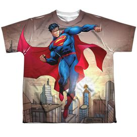 Superman Light And Darkseid Short Sleeve Youth Poly Crew T-Shirt