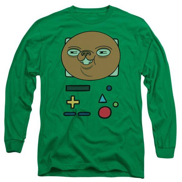 Adventure Time Bmo Mask Long Sleeve Adult Kelly T-Shirt