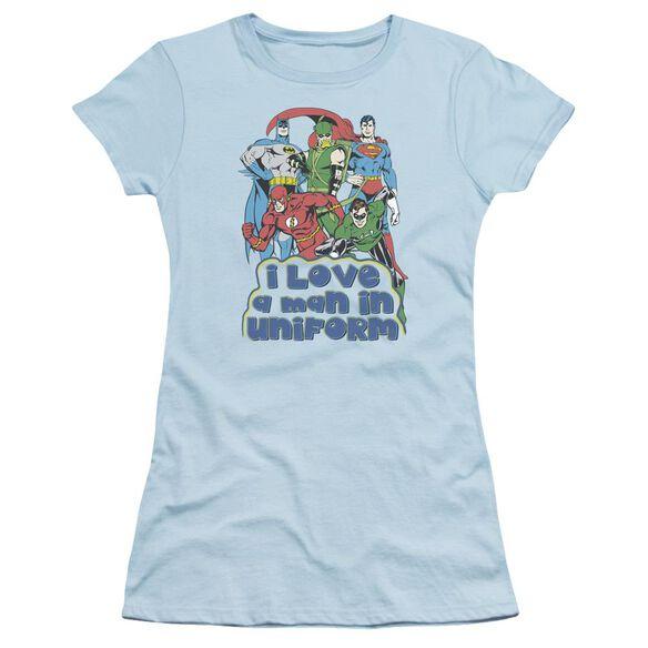 Dc I Love A Man In Uniform Short Sleeve Junior Sheer Light T-Shirt