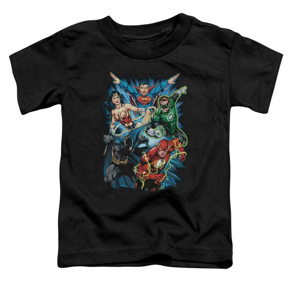 Jla Jl Assemble Short Sleeve Toddler Tee Black Lg T-Shirt