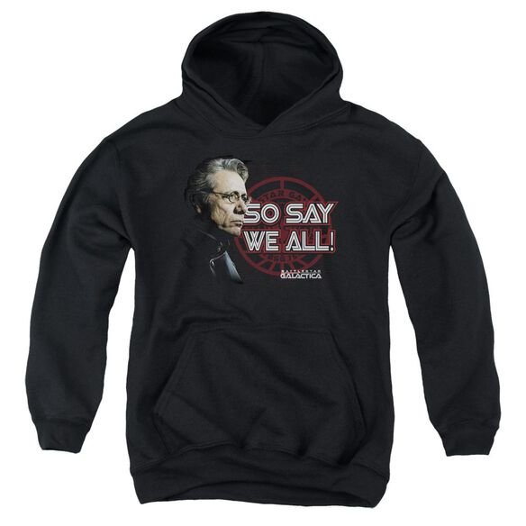 Bsg So Say We All Youth Pull Over Hoodie
