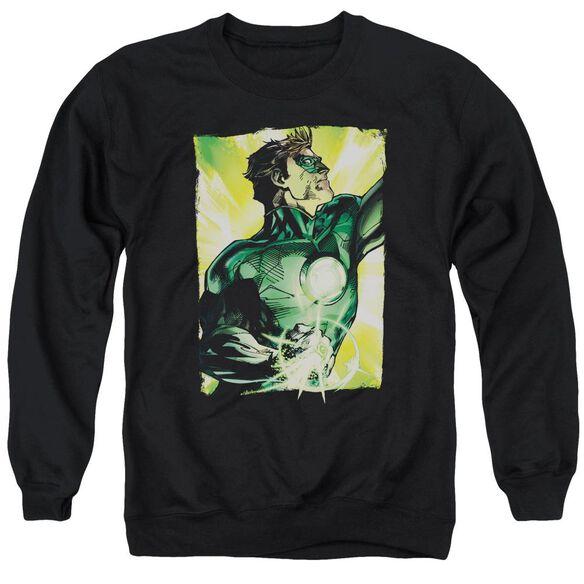 Green Lantern Up Up Adult Crewneck Sweatshirt