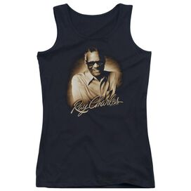 Ray Charles Sepia Juniors Tank Top