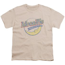 Moon Pie Distressed Retro Logo Short Sleeve Youth T-Shirt