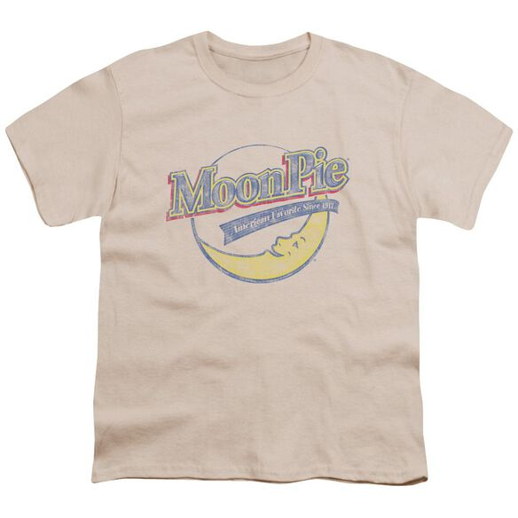 Moon Pie Distressed Retro Logo Short Sleeve Youth T-Shirt