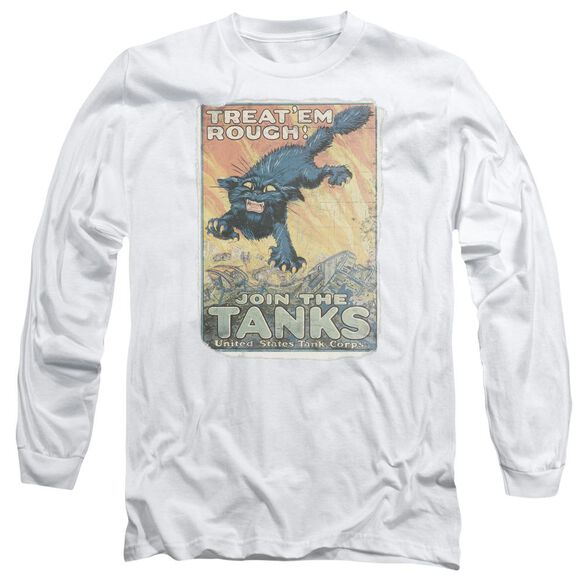 Army Treat Em Rough Long Sleeve Adult T-Shirt