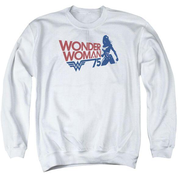 Wonder Woman Ww75 Silhouette Adult Crewneck Sweatshirt