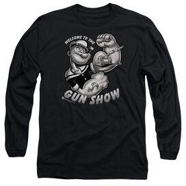POPEYE GUN SHOW - L/S ADULT 18/1 - BLACK T-Shirt