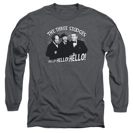 Three Stooges Hello Again Long Sleeve Adult T-Shirt