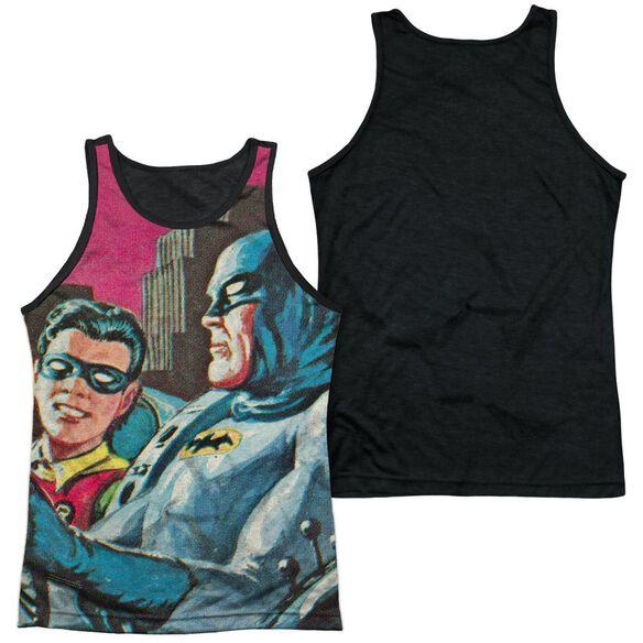 Batman Classic Tv Bat Signal Adult Poly Tank Top Black Back