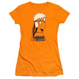 Naruto Shippuden Naruto Distressed Short Sleeve Junior Sheer T-Shirt