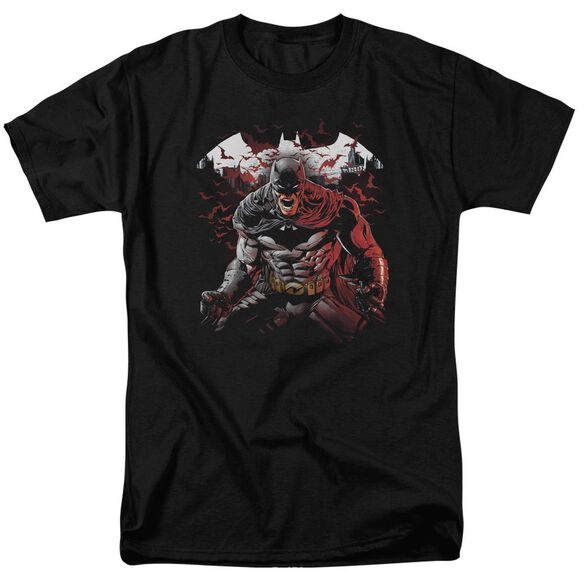 Batman Raging Bat Short Sleeve Adult T-Shirt