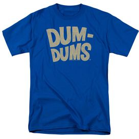Dum Dums Distressed Logo Short Sleeve Adult Royal Blue T-Shirt