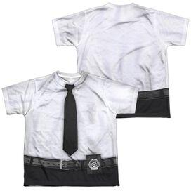 Gotham Gordon Uniform (Front Back Print) Short Sleeve Youth Poly Crew T-Shirt