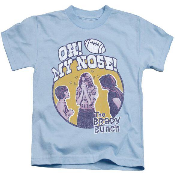 Brady Bunch My Nose Short Sleeve Juvenile Light Blue T-Shirt
