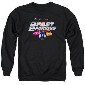 2 Fast 2 Furious Logo - Adult Crewneck Sweatshirt - Black