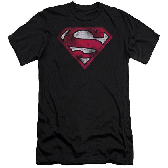 Superman War Torn Shield Premuim Canvas Adult Slim Fit