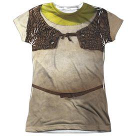 Shrek Costume Short Sleeve Junior Poly Crew T-Shirt