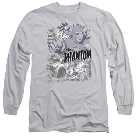 Phantom Ghostly Collage Long Sleeve Adult T-Shirt