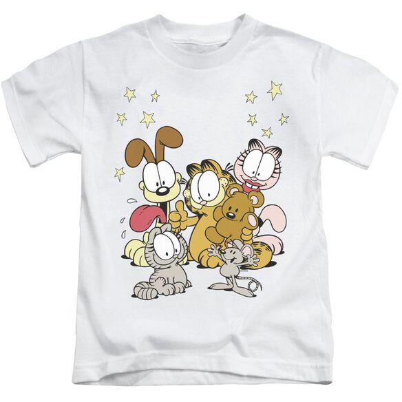 Garfield Friends Are Best Short Sleeve Juvenile White T-Shirt