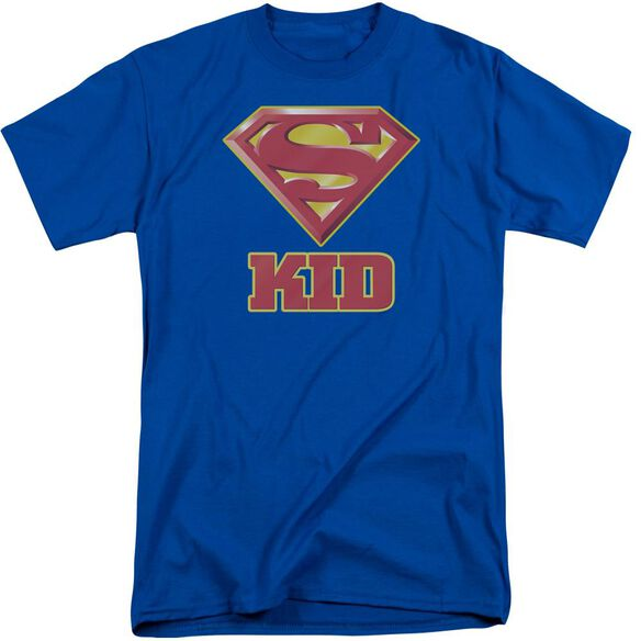 Superman Super Kid Short Sleeve Adult Tall Royal T-Shirt