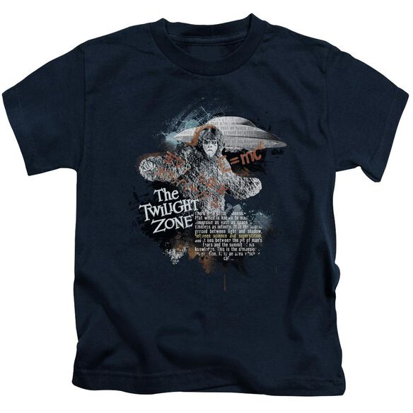 Twilight Zone Science&Superstition Short Sleeve Juvenile Navy T-Shirt