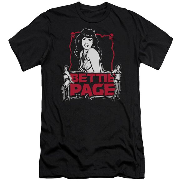 Bettie Page Bettie Scary Hot Premuim Canvas Adult Slim Fit
