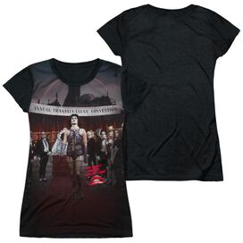Rocky Horror Picture Show Annual Conventional Strut Short Sleeve Junior Poly Black Back T-Shirt