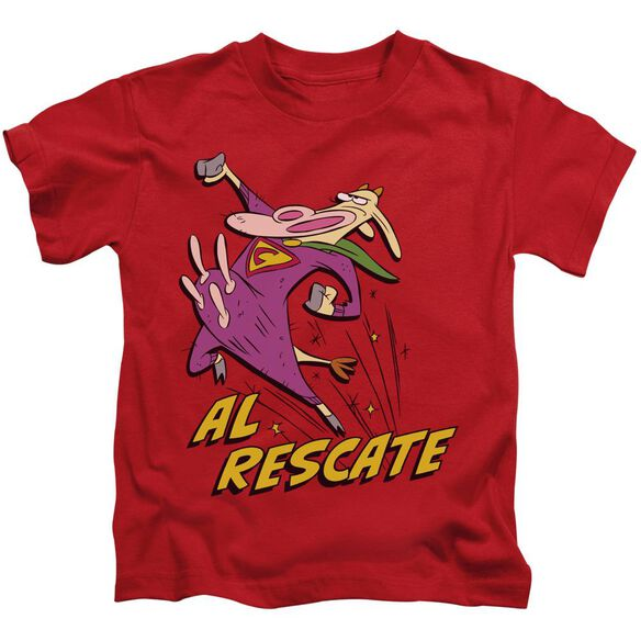 Cow And Chicken Al Rescate Short Sleeve Juvenile T-Shirt