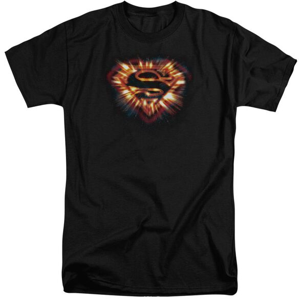 Superman Space Burst Shield Short Sleeve Adult Tall T-Shirt