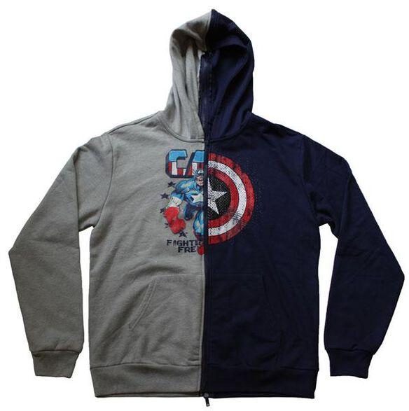 Captain America Split Zip Hoodie