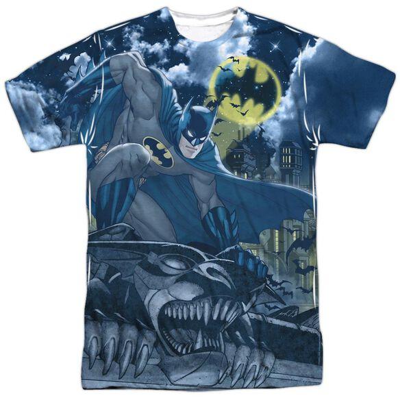 Batman Gotham Gargoyle Short Sleeve Adult 100% Poly Crew T-Shirt