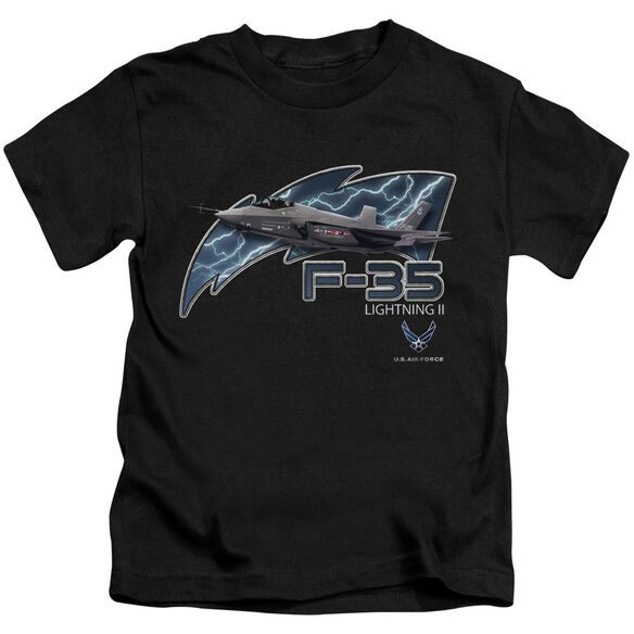 Air Force F35 Short Sleeve Juvenile Black T-Shirt