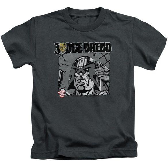 Judge Dredd Fenced Short Sleeve Juvenile Charcoal T-Shirt