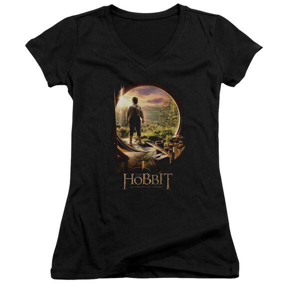 The Hobbit Hobbit In Door Junior V Neck T-Shirt