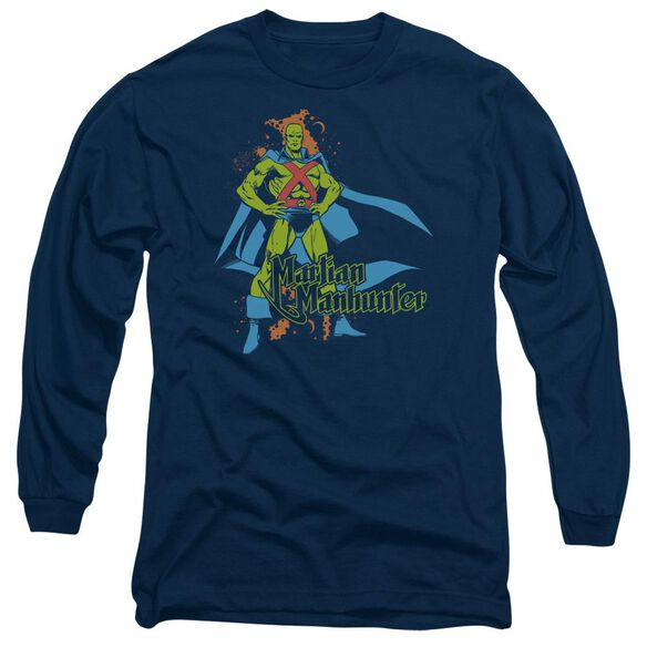 Dc Martian Manhunter Long Sleeve Adult T-Shirt