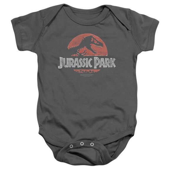 Jurassic Park Faded Logo - Infant Snapsuit - Charcoal - Sm