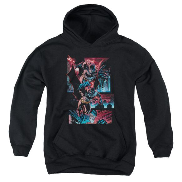 Batman Dark Knight Panels Youth Pull Over Hoodie